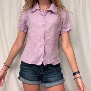 Lilac purple button up blouse